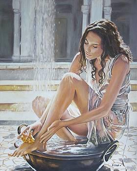 Woman Bathing by Andy Lloyd