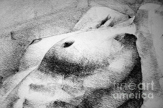 Dimitar Hristov - Woman body figure pencil drawing close up detail