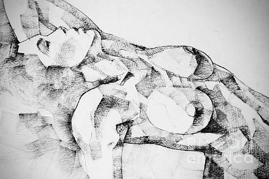 Woman Drawing Portrait by Dimitar Hristov