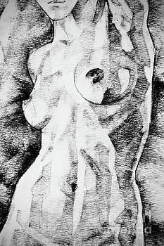 Woman Figure Art Drawing Straight Pose by Dimitar Hristov