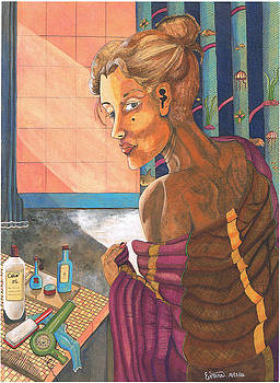 Woman from the shower by Everna Taylor