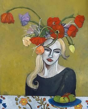 Woman in a Flowered Hat  by Terri Jordan