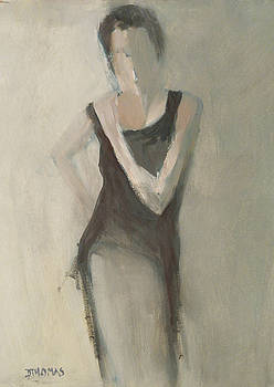 Woman in Black Dress by Donna Thomas