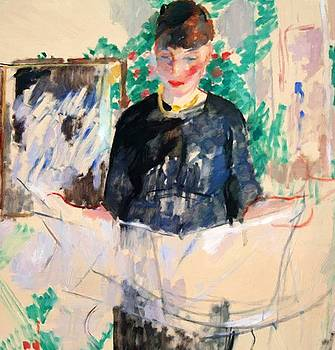 Wouters Rik - Woman In Black Reading A Newspaper 1912