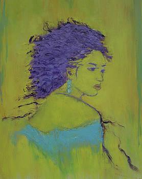Woman in blue by Iancau Crina