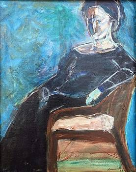 Woman in Chair by Lorraine Roth