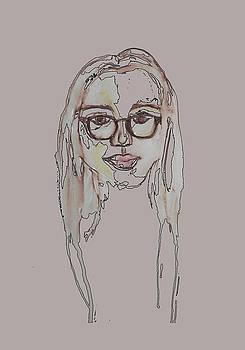 Woman In Glasses by Cortney Herron