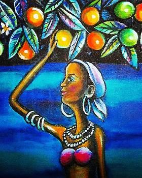 Woman in oranges  by Arturo Cisneros
