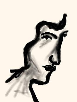 Bill Owen - woman in profile