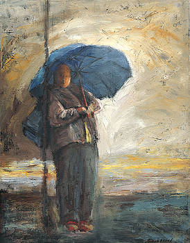 Woman in the Rain by Susan Adame