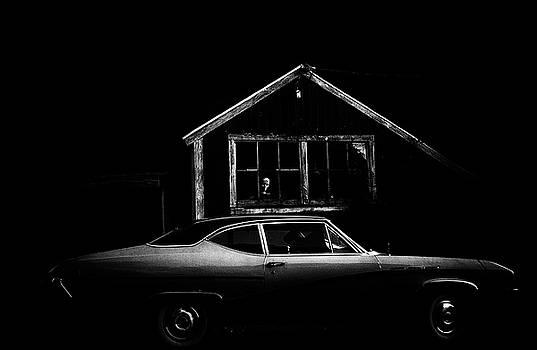 Woman In The Window- Film Noir- No Border by Linda Rasch