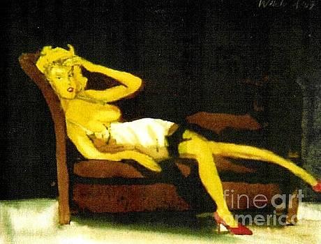 Woman In White Slip  by Harry WEISBURD