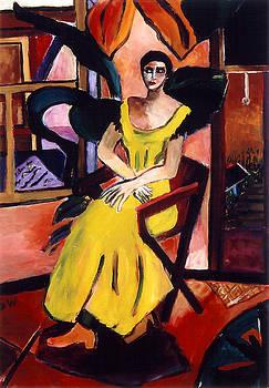 Woman in Yellow Dress by Sarah Whitecotton