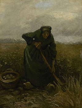Woman Lifting Potatoes Nuenen, July - August 1885 Vincent van Gogh 1853 - 1890 by Artistic Panda
