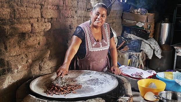 Woman Making Chocolate by Steffani Cameron