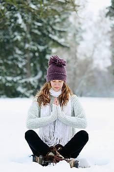 woman meditating by Iuliia Malivanchuk by Iuliia Malivanchuk
