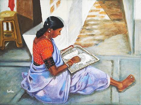 Usha Shantharam - Woman picking rice
