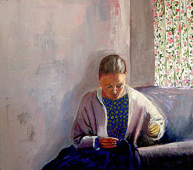 Woman Sewing by James Gallagher