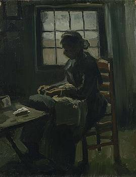 Woman Sewing Nuenen, March - April 1885 Vincent van Gogh 1853 - 1890 by Artistic Panda