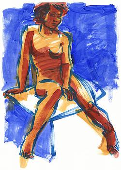 Judith Kunzle - Woman Sitting on Cube