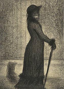 Woman Strolling by Bishopston Fine Art