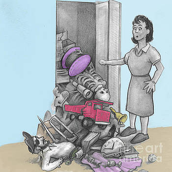 Woman Stuff Falls Out of a Closet by Lee Serenethos