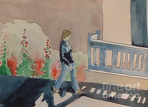 Woman Walking Down Nusbaum Street by Paul Thompson