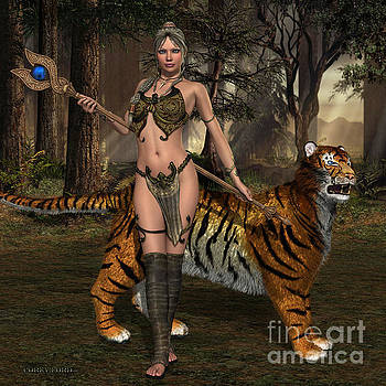 Corey Ford - Woman Warrior and Cat