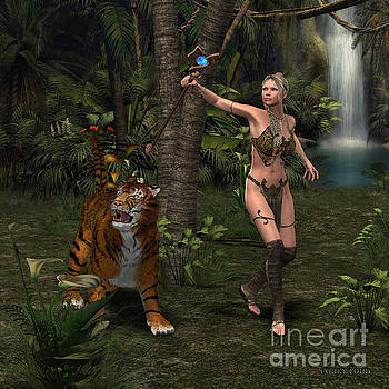 Corey Ford - Woman Warrior with Tiger