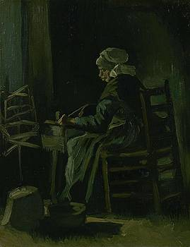 Woman Winding Yarn Nuenen, March 1885 Vincent van Gogh 1853 - 1890 by Artistic Panda