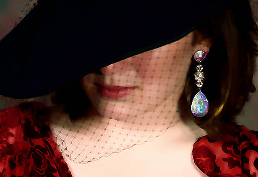 Woman with a Crystal Earring by Barbara D Richards