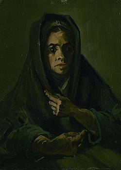 Woman with a Mourning Shawl Nuenen, March - May 1885 Vincent van Gogh 1853 - 1890 by Artistic Panda