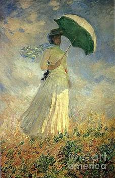 Monet - Woman With A Parasol Facing Right