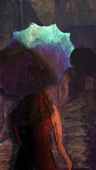 Woman With An Umbrella by Eduardo Tavares