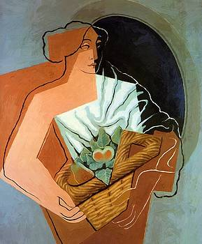 Woman With Basket 1927 by Gris Juan