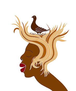 Frank Tschakert - Woman with bird