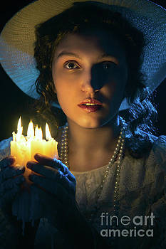 Woman With Candles by Aleksey Tugolukov