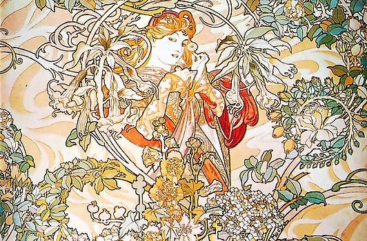 Alphonse Mucha - Woman With Daisy