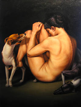 Woman with Dogs by Scott Goodwilllie