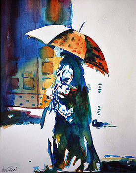 Woman with Umbrella I by Neva Rossi