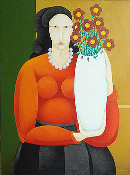 S A C H A -  Circulism Technique - Woman with Vase  2007