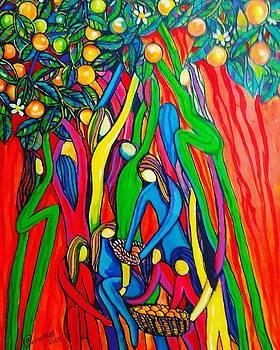 Woman's in Oranges by Arturo Cisneros