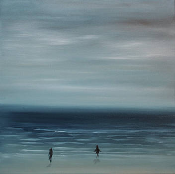 Women on the Beach by Tone Aanderaa