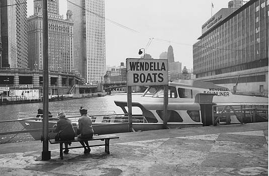 Chicago and North Western Historical Society - Women Seated at Michigan Avenue Wendella Dock - 1962