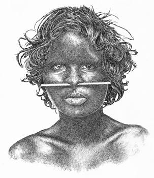 Women with nose stick by Kim Philipsen