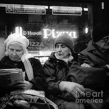 Wonder What Happened Today - New York City Bus by Miriam Danar