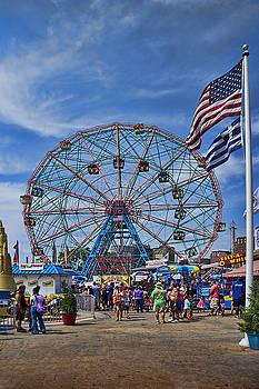 Wonder Wheel in Coney Island New York by David Smith