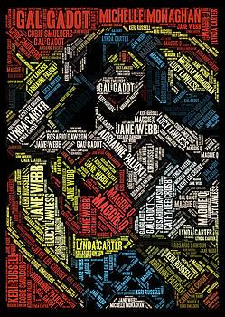 Wonder Woman Actress Mosaic by Paul Van Scott