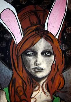 Wonderland Girls - bunny ears close up by Chrissa Arazny- Nordquist