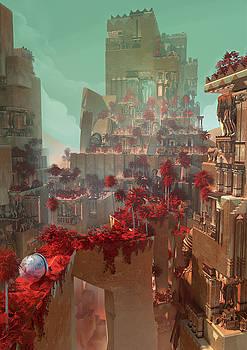 Wonders Hanging Garden Of Babylon by Te Hu